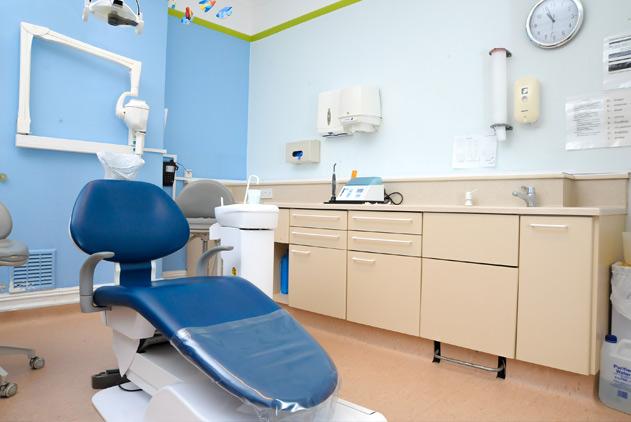 dentist chair inside Penerley Road dental practice