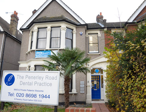 outside front of penerley road dental practice